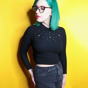 Vintage 1950s Star Studded Sweater